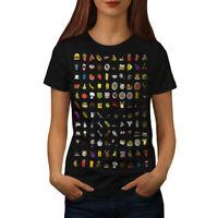 Wellcoda Funny Junk Stylish Womens T-shirt, Eating Casual Design Printed Tee