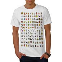 Wellcoda Funny Junk Stylish Mens T-shirt, Eating Graphic Design Printed Tee
