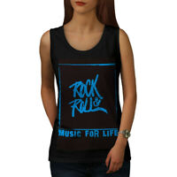 Wellcoda Rock And Roll Life Womens Tank Top, Music Athletic Sports Shirt