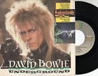 DAVID BOWIE disco 45 giri MADE in ITALY Underground OST LABIRINTH 1986
