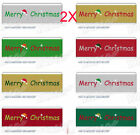 AY04 New W 22 MM Merry Christmas Hat Gift Packaging Belt Wholesale Lots 2 PCS