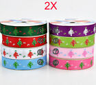 AY22 New W 9 MM Dacron Christmas Tree Gift Packaging Belt Wholesale Lots 2 PCS