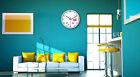 E33 European Quartz Clock White 12 Inches Mute Flowers Pattern Round Wall Clock