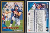 2010 TIM TEBOW TOPPS GOLD NFL FOOTBALL ROOKIE CARD /2010 PHILADELPHIA EAGLES