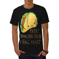 Wellcoda Sad Taco Fall Apart Mens T-shirt, Funny Graphic Design Printed Tee