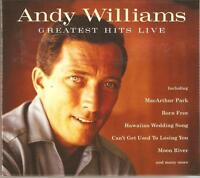 ANDY WILLIAMS GREATEST HITS LIVE CD - L.O.V.E. & MORE