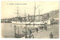 CPA 13 Bouche du Rhône Marseille Le Quai de la Fraternité animé bateaux