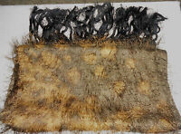 Animal Print Shawl / Scarf - 64 inches long & 13 1/2 inches wide - brown/black
