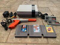Nintendo Nes Console System Super Mario Bros 1 2 3 Original OEM Polished 72 Pin