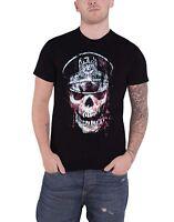 Slayer T Shirt Skull Hat Band Logo distressed new Official Mens Black
