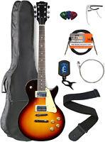 Vault LP1 Ovangkol Fretboard Electric Guitar - Tobacco Sunburst w/ Gig Bag