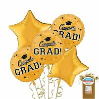 Party City Congrats Grad Graduation Star Balloon Kit, with Weight