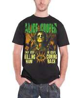 Alice Cooper T Shirt Graveyard Zombie Undead Band Logo Official Mens New Black