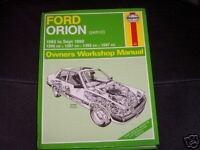 Ford Orion (Petrol) 1983 - 1990 Haynes Manual