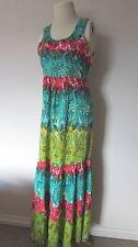 Monsoon Maxi Dress Pink Blue green bnwot  Size 8 10 12 14 16 18