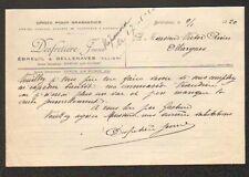 """EBREUIL & BELLENAVES (03) ORGE pour BRASSERIE """"DESFRETIERE Jeune"""" en 1920"""