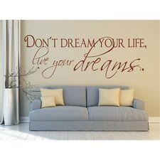 Spruch WANDTATTOO Don´t Dream your life live Wandsticker Wandaufkleber Sticker 1