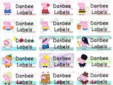 Medium Peppa Pig Personalised Name Labels, Sticker, 30x13mm, Waterproof