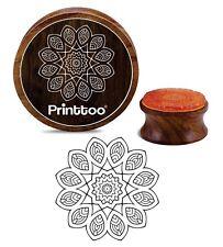 Crafting Motif Mandala Floral Scrapbooking Tampon En Caoutchouc En Bois