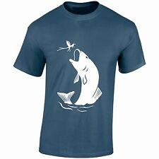 Trout Fishing (white) T Shirt Carp flyfishing Bait birthday fathersday gift xmas
