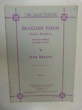 VOCAL SCORE Jean Berger brasiliano Salmo