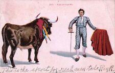 Postcard Bullfighting Matador 1914 Corrida de Toros - Pase de Tanteo