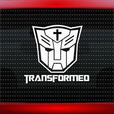 Transformed Cross Christian Car Decal Truck Window Vinyl Sticker (20 COLORS!)