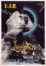 Poster Vintage Var Egipto Esfinge aerolínea A3/A4 impresión