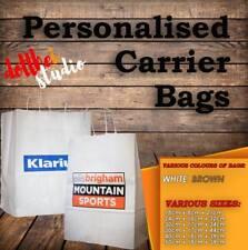 PERSONALISED PAPER CARRIER BAGS • CUSTOM PRINTED BAG •  SHOP LOGO GIFT