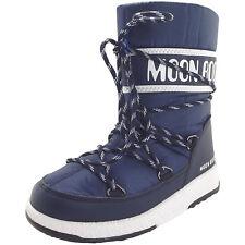 Moon Boot Jr Boy Sport WP Kinder Winterstiefel dunkelblau/weiß (blue navy/white)