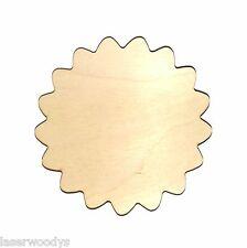 Medallion Unfinished Flat Wood Shape Cut Out M808 Crafts Lindahl Woodcrafts