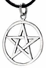 Nr. 49: Pentagramm 925 Silber Anhänger Silberkette Magie Schutz Amulett Pentakel