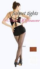 Quality A rete Danza Collant in naturale, Nero & Bianco-Plain or Cucito