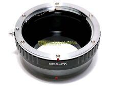 Anello adapter per montare ottiche Canon EOS su corpi Fuji X-Pro 1. Adattatore.