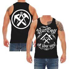 Träger Shirt Tank Top Nur Gott ist über uns DACHDECKER Handwerk Zunft Wappen