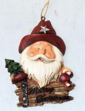 2 x noël tartan de hesse stocking arbre porte fenêtre décorations ornements
