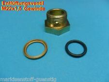 Druckluftkessel Entlüftungsventil Stahl mit Dichtung M22x1,5 mit Ring NEU L4996