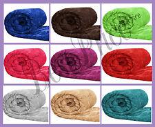 LUXURY Plain Beige Finta Pelliccia Gettare, Super Morbido in Pile aperto tutti i colori / taglie