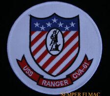 USS RANGER CVA-61 CV PATCH US NAVY VETERAN PIN UP GIFT PILOT CREW VET CARRIER