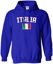 Threadrock Men's Italia Flag Hoodie Sweatshirt italy rome italian soccer