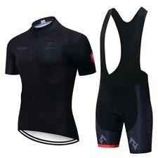 2019 Men Cycling Jersey Kit Bike Short Sleeve Shirt Bib Shorts Set Sport Uniform