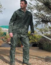 Traje impermeable señoras de los hombres chaqueta Pantalones lluvia Viento