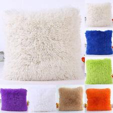 """18"""" Winter Soft Fur Plush Throw Pillow Cases Home Decor Sofa Waist Cushion Cover"""