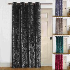 """Agra"" Thermal Self Lined Crush VELVET Winter Door Curtain"