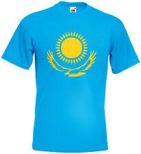 Kasachstan Ka3axcteh T-Shirt Fanshirt Kult Sonne Adler