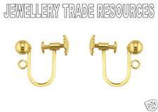 De 9 quilates de oro amarillo pendiente Cables Tornillo Clip En 4 Mm Grano