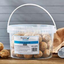 Wild Bird Food Suet Fat Balls Premium Grade Protein 50 150 300 Tub - Happy Beaks