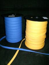 5 m biais coton 18 mm replié 8 mm jaune soleil, bleu roy au choix !