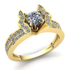 Genuine 1ct Round Cut Diamond Ladies Bridal Anniversary Engagement Ring 14K Gold