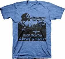 Bob Marley Reggae Revolution Live M, L, XL, 2XL Light Blue T-Shirt